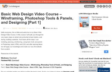 http://www.1stwebdesigner.com/tutorials/basic-web-design-video-course-1/