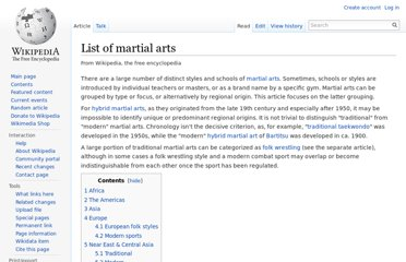 http://en.wikipedia.org/wiki/List_of_martial_arts