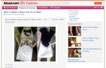 http://diyfashion.about.com/od/diypantsandskirts/ss/T-Shirt_Dress.htm