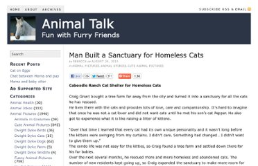 http://www.animaltalk.us/man-built-a-sanctuary-for-homeless-cats/