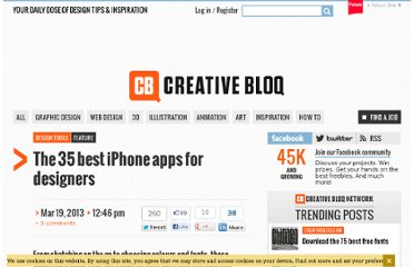http://www.creativebloq.com/design-tools/best-iphone-apps-812522