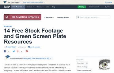 http://ae.tutsplus.com/articles/roundup/14-free-stock-footage-and-green-screen-plate-resources/