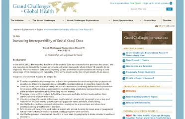 http://www.grandchallenges.org/Explorations/Topics/Pages/SocialDataInteroperability_Round11.aspx