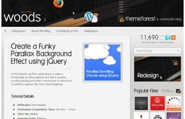 http://blog.themeforest.net/tutorials/create-a-funky-parallax-background-effect-using-jquery/