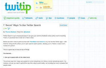 http://www.twitip.com/7-%e2%80%98secret%e2%80%99-ways-to-use-twitter-search/
