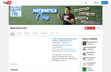http://www.youtube.com/user/matematicario