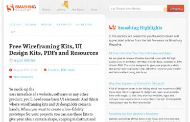 http://www.smashingmagazine.com/2010/08/27/free-wireframing-kits-ui-design-kits-pdfs-and-resources/