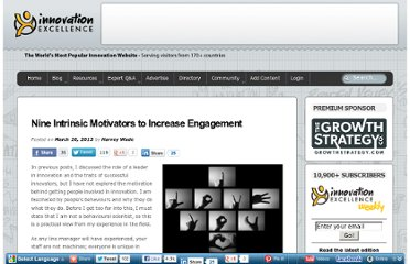 http://www.innovationexcellence.com/blog/2013/03/20/nine-intrinsic-motivators-to-increase-engagement/