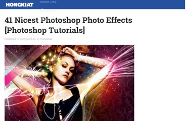 http://www.hongkiat.com/blog/41-nicest-photoshop-photo-effects-photoshop-tutorials/