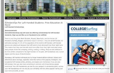 http://schoolscholarships.org/scholarships-for-left-handed-students-free-education-at-hand