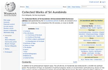 http://en.wikipedia.org/wiki/Collected_Works_of_Sri_Aurobindo