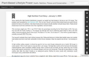 http://lifestylepower.blogspot.com/2009/01/high-nutrition-food-diary-january-3.html