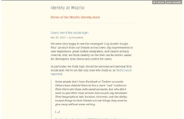 http://identity.mozilla.com/post/45842909320/users-dont-like-social-login