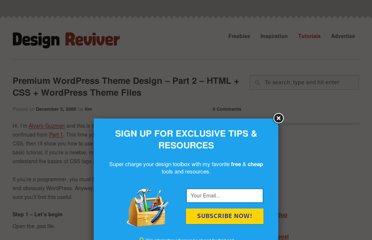 http://designreviver.com/tutorials/premium-wordpress-theme-design-part-2-html-css-wordpress-theme-files/