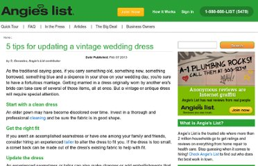 http://www.angieslist.com/articles/5-tips-updating-vintage-wedding-dress.htm