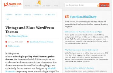 http://www.smashingmagazine.com/2009/01/28/vintage-and-blues-wordpress-themes/