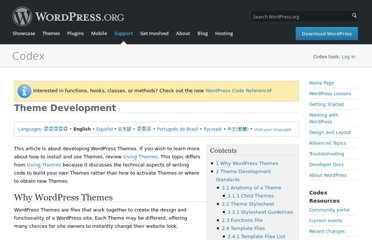 http://codex.wordpress.org/Theme_Development