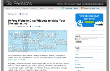 http://sixrevisions.com/tools/10-free-website-chat-widgets-to-make-your-site-interactive/