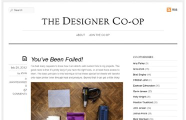 http://thedesignercoop.net/2012/02/youve-been-foiled/