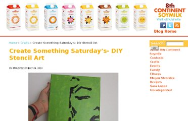 http://www.8cpassport.com/2010/07/create-something-saturdays-diy-stencil-art/