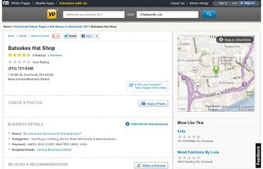 http://www.yellowpages.com/cincinnati-oh/mip/batsakes-hat-shop-10473298