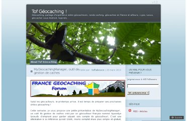 http://tofgeocaching.wordpress.com/2013/03/23/gestion-geocaches/