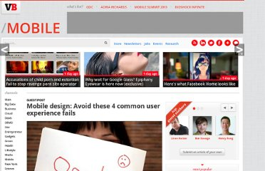 http://venturebeat.com/2013/03/23/mobile-design-4-common-user-experience-fails/