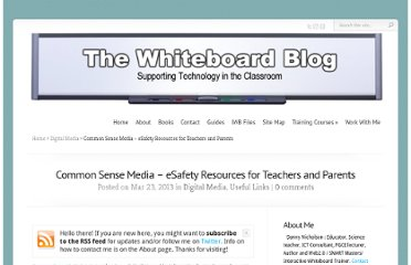 http://www.whiteboardblog.co.uk/2013/03/common-sense-media-esafety-resources-for-schools/