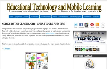http://www.educatorstechnology.com/2013/03/comics-in-classrooms-great-tools-and.html