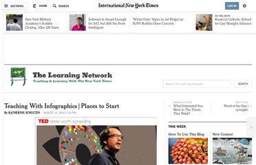 http://learning.blogs.nytimes.com/2010/08/23/teaching-with-infographics-places-to-start/