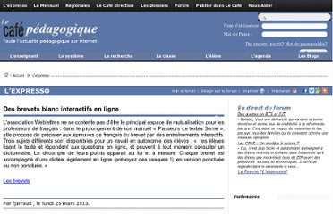 http://www.cafepedagogique.net/lexpresso/Pages/2013/03/25032013Article634997922153676167.aspx