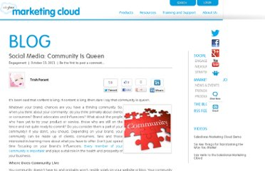 http://www.salesforcemarketingcloud.com/blog/2011/10/community-is-queen/