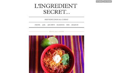http://lingredientsecret.com/post/26765681621/chili-vegetarien-ingredient-secret-le-cheddar