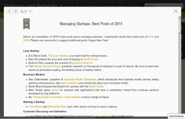 http://platformsandnetworks.blogspot.com/2011/12/managing-startups-best-posts-of-2011.html#!/2011/12/managing-startups-best-posts-of-2011.html