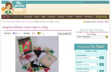 http://www.tipjunkie.com/holiday-crafts/christmas/neighbor-gift-idea-game-night-in-a-bag/