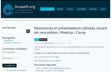 http://drupalfr.org/documentation/ressources-presentations-utilisees-durant-les-rencontres-meetup-camp