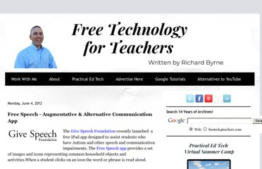 http://www.freetech4teachers.com/2012/06/free-speech-augmentative-alternative.html#.UVCojtF-P0N
