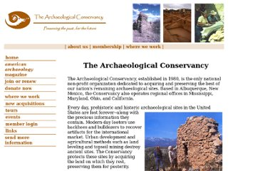 http://www.archaeologicalconservancy.org/aawelcome.html