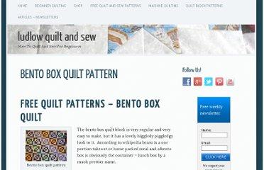 ludlow quilt shop pearltrees. Black Bedroom Furniture Sets. Home Design Ideas