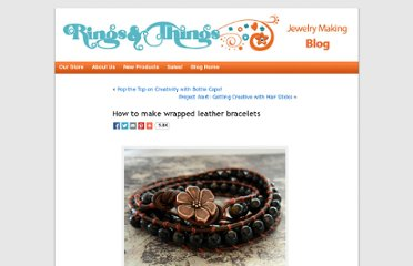 http://www.rings-things.com/blog/2011/03/08/how-to-make-wrapped-leather-bracelets/#.UVDjftF-P0N