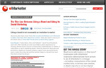 http://www.emarketer.com/Article/Thin-Line-Between-Liking-Brand-Liking-Its-Social-Marketing/1007912