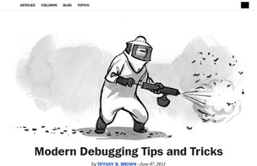 http://alistapart.com/article/modern-debugging-tips-and-tricks