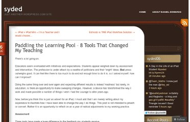 http://dedwards.me/2012/12/16/paddling-the-learning-pool/