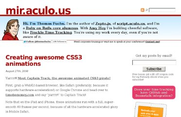 http://mir.aculo.us/2010/08/27/creating-awesome-css3-animations/
