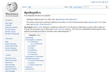 http://en.wikipedia.org/wiki/Apologetics