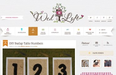 http://www.weddingwindow.com/blog/diy-burlap-table-numbers/