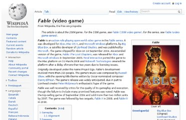 http://en.wikipedia.org/wiki/Fable_(video_game)