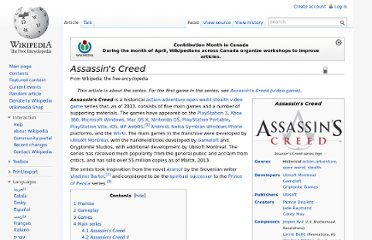 http://en.wikipedia.org/wiki/Assassin%27s_Creed
