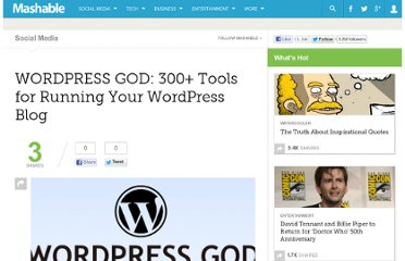 http://mashable.com/2007/08/16/wordpress-god300-tools-for-running-your-wordpress-blog/