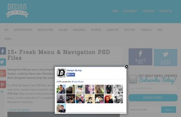 http://tutorials-share.com/freebies/15-beautiful-menu-navigation-psd-files/